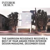 Garrison Residence Interior Design Best of Year Award