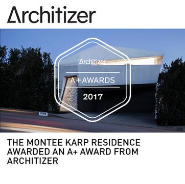 Montee Karp Residence Architizer A+ Award