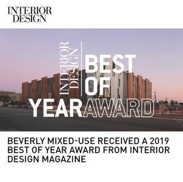 2300 Beverly Interior Design Best of Year Award