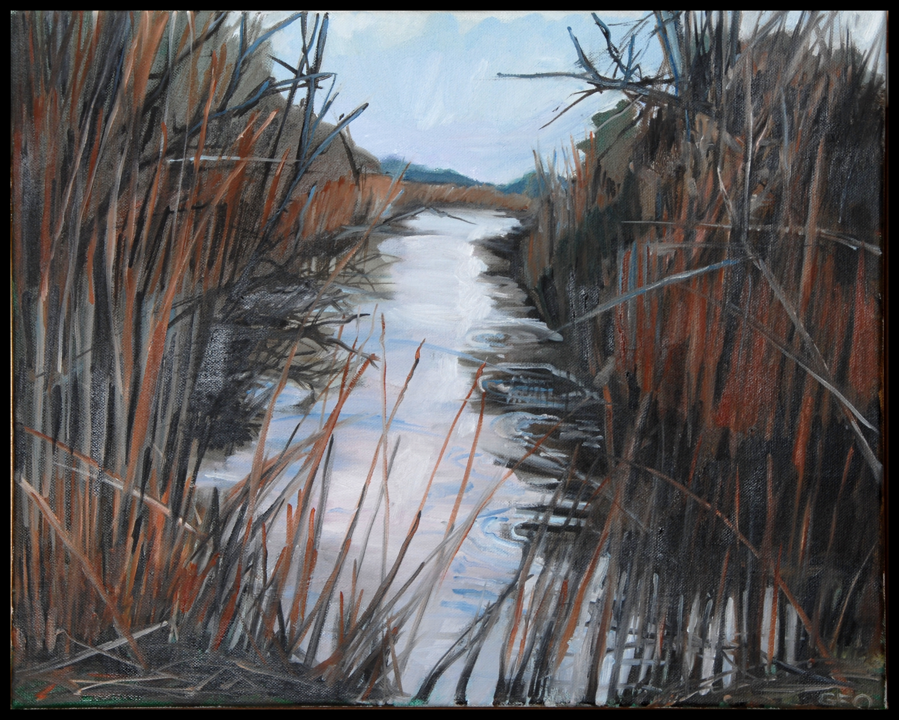 Blackwater Winter 16x20 oil on canvas