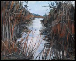 Blackwater Winter 16x20 oil on canvas