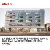 La Brea Affordable Housing AIA Award