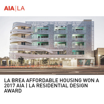 La Brea Affordable Housing AIA Award