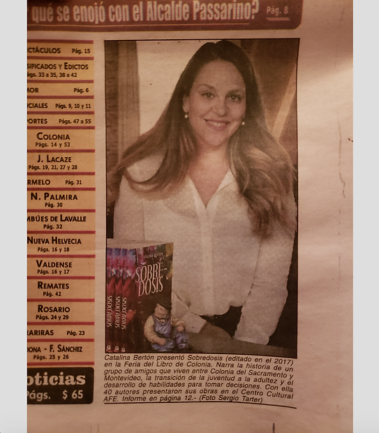 Semanario Noticias Catalina Bertón Feria del libro Colonia del Sacramento