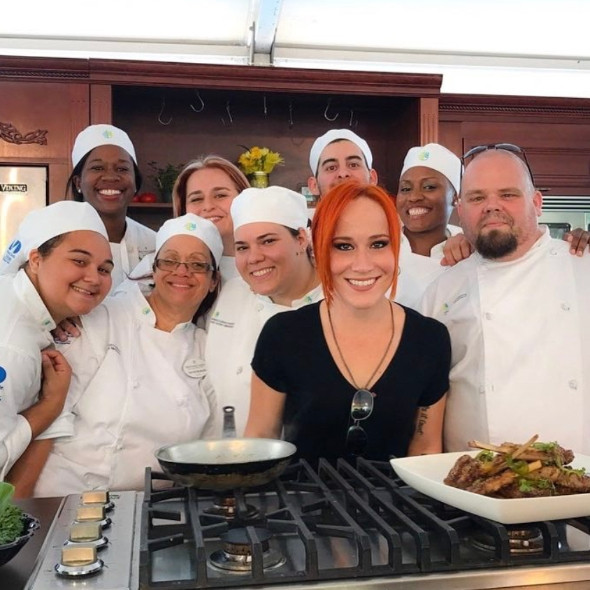Chef Adrianne Calvo and her team