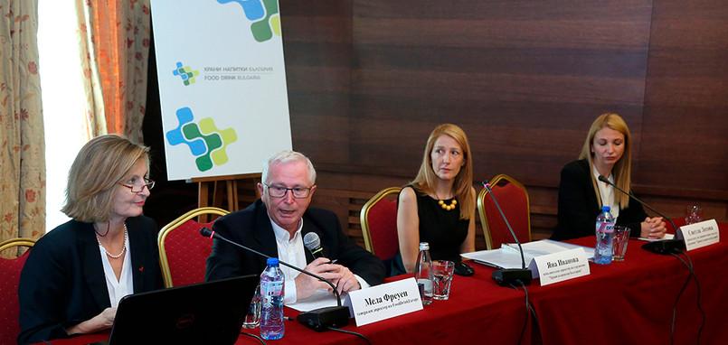 Mella Frewen, Director General FoodDrinkEurope, visit in Sofia