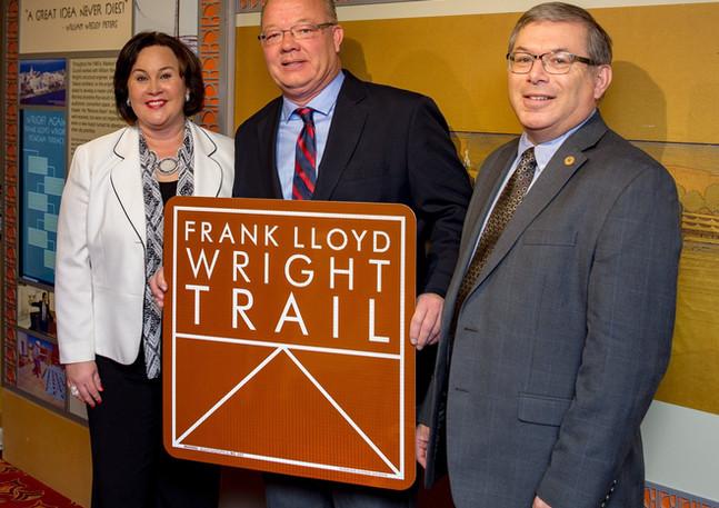 We are on Frank Lloyd Wright Trail.