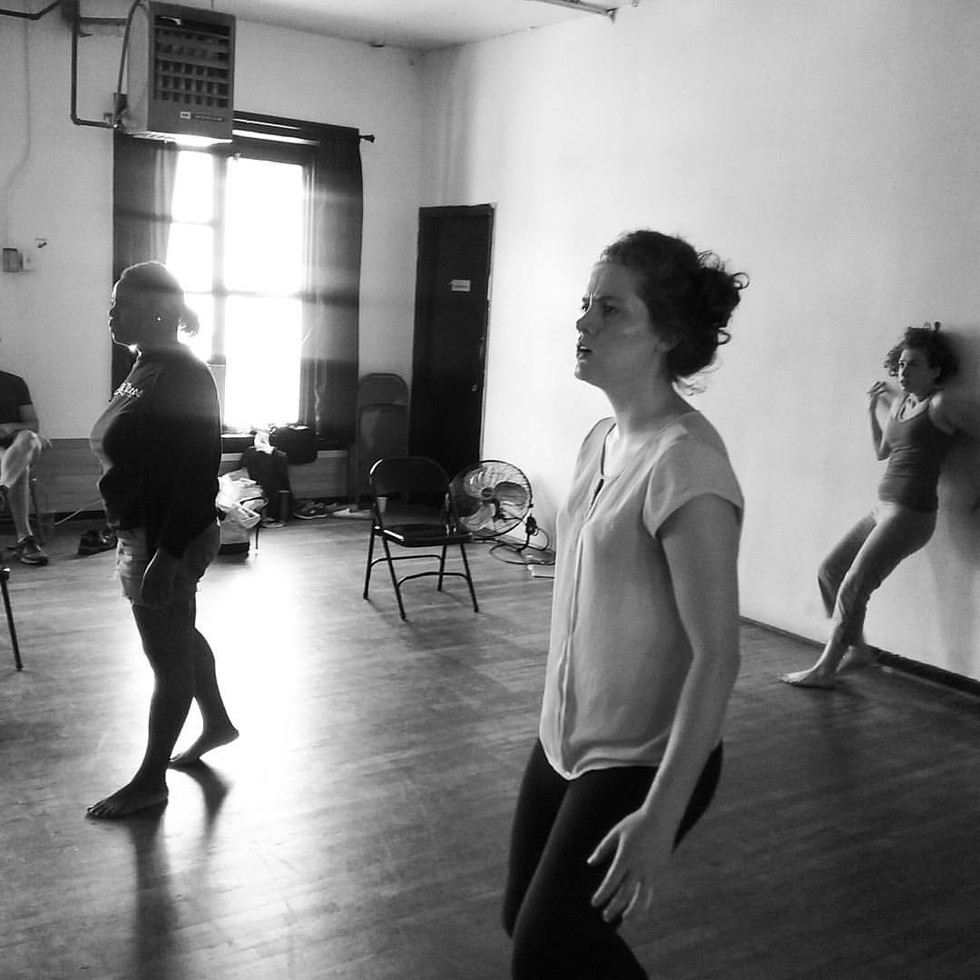 Greek Chorus rehearsal