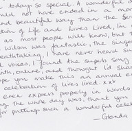 Glenda's thoughts on 2012 event