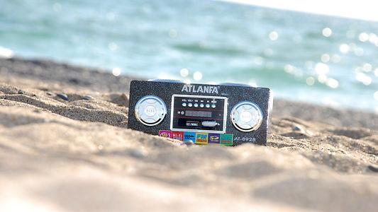 tape on a beach