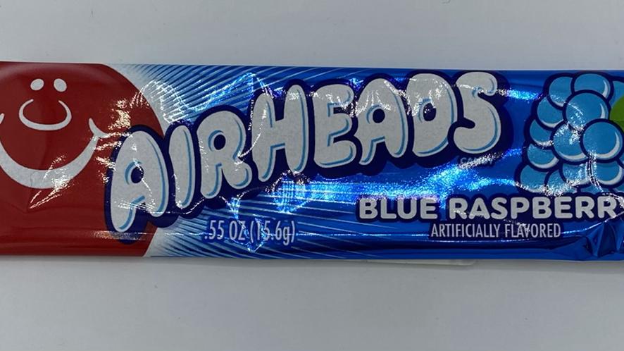 Airheads blue raspberry chew bar
