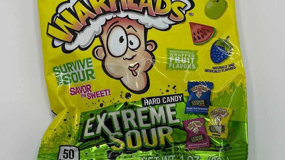 Warheads extra sour hard candy