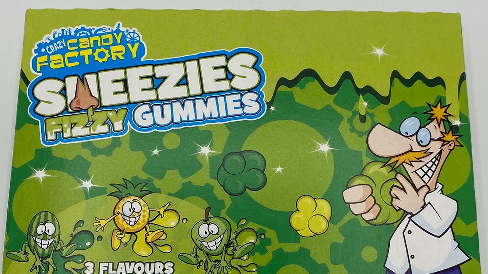 Sneezies slime candy cinema box