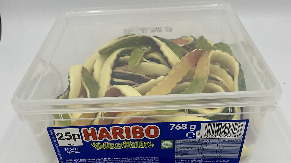Haribo yellow bellies tub (768g)