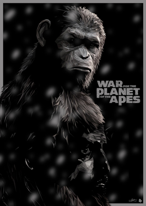 Official poster for War for the Planet of the Apes