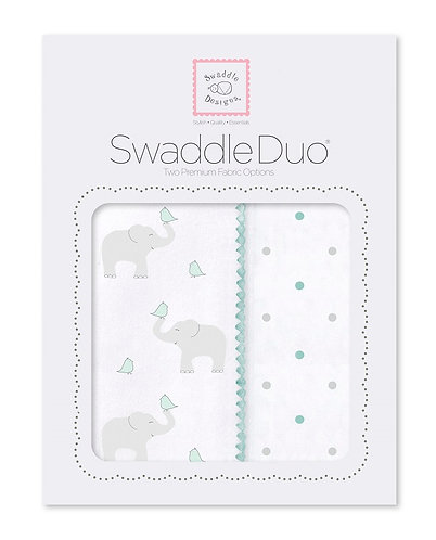 SwaddleDuo - Elephant and Chickies (Set of 2)