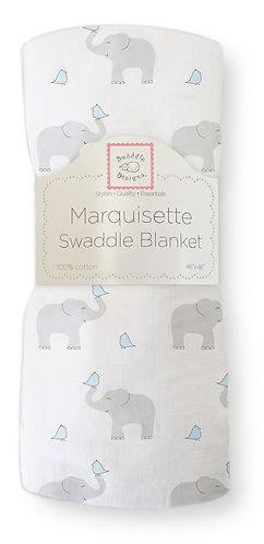 Marquisette Swaddle Blanket - Elephant and Chickies