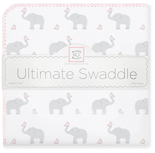 Ultimate Swaddle Blanket - Elephant and Chickies