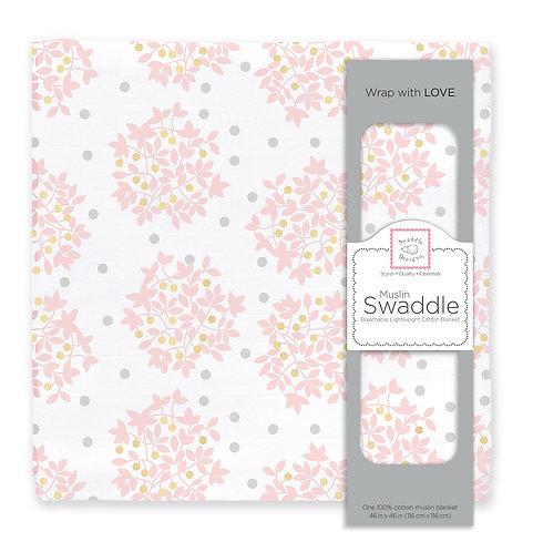 Muslin Swaddle - Heavenly Flora Shimmer