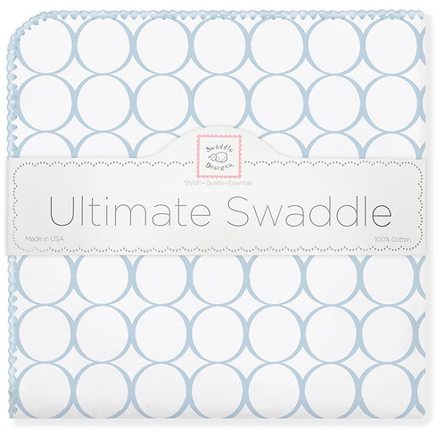 Ultimate Swaddle Blanket - Mod Circles on White