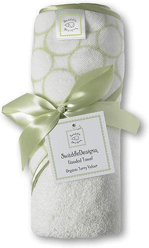Organic Hooded Towel - Mod Circles