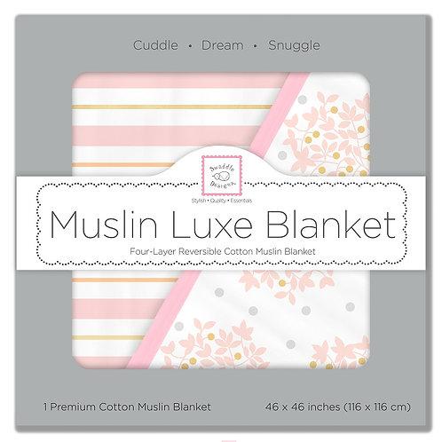 Muslin Luxe Blanket - Heavenly Floral Shimmer