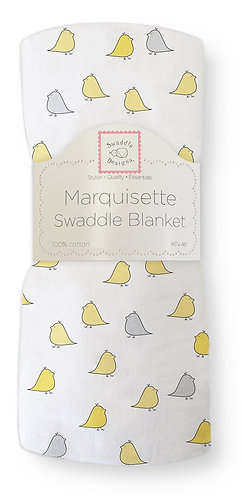 Marquisette Swaddle Blanket - Little Chickies