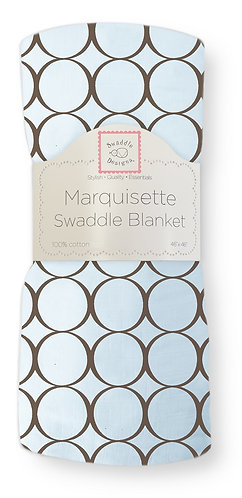 Marquisette Swaddle Blanket - Brown Mod Circles