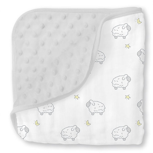 Muslin Snuggle Blanket - Little Lamb
