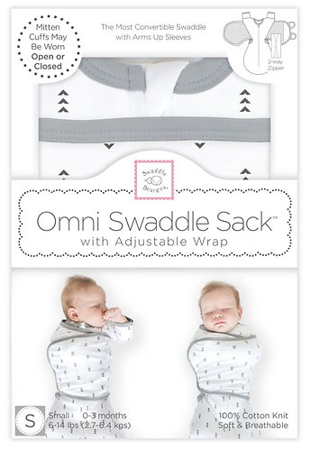 Omni Swaddle Sack with Wrap - Arrows