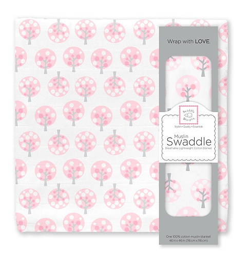Muslin Swaddle - Cherry Trees