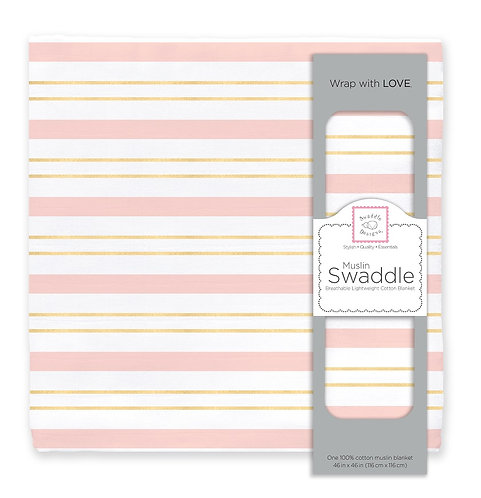 Muslin Swaddle - Serenity Stripes