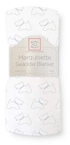 Marquisette Swaddle Blanket - Little Doggie