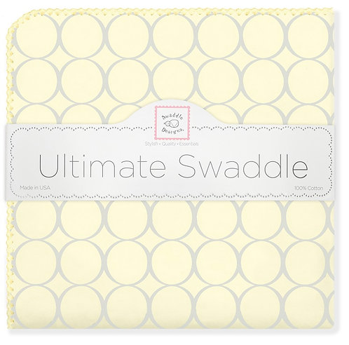 Ultimate Swaddle Blanket - Sterling Mod Circles