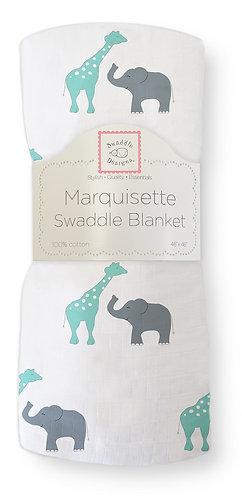 Marquisette Swaddle Blanket - Safari Fun