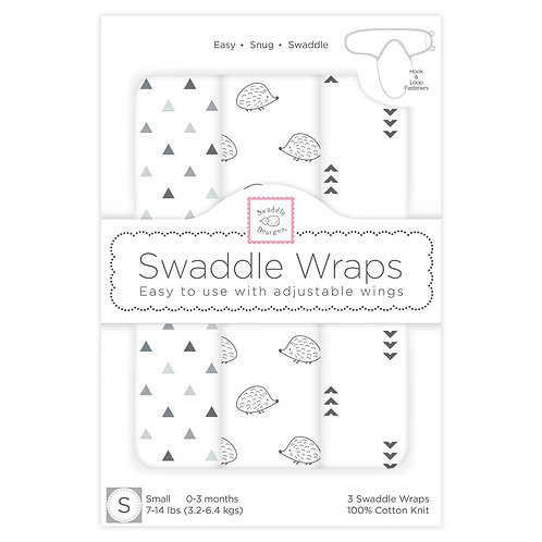 Swaddle Wraps - Hedgehog (Set of 3)