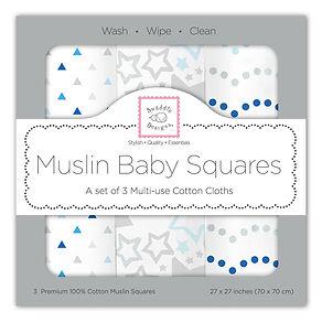Little Beanstalk- SwaddleDesigns Mulin Baby Square
