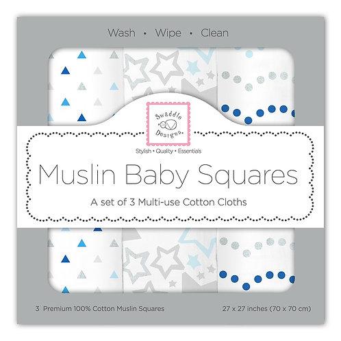 Muslin Baby Squares - Starshine Shimmer (Set of 3)