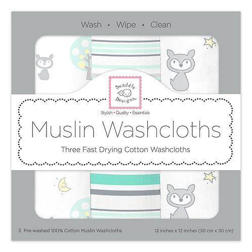 Muslin Washcloths - Woodland (Set of 3)