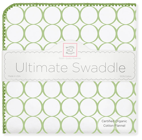 Organic Ultimate Swaddle Blanket - Mod Circles with Jewel Trim