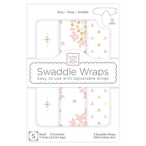Swaddle Wraps - Heavenly Floral (Set of 3)