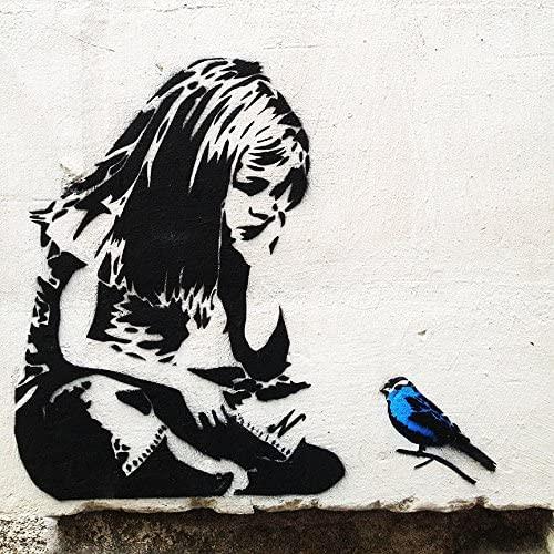 Banksy - Girl with bluebird