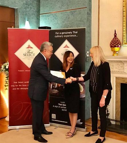 Receiving Thai Select award