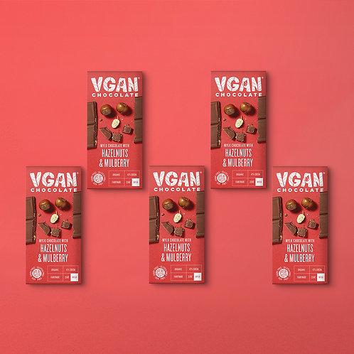 5 Pack | Dark Chocolate with Hazelnut & Mulberry