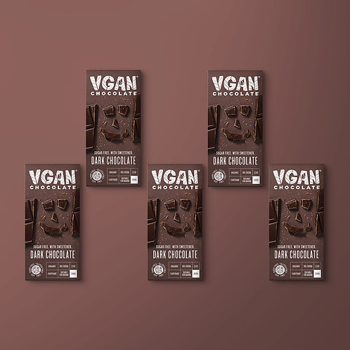 5 Pack | Dark Chocolate | 85% Cocoa | Sugar Free