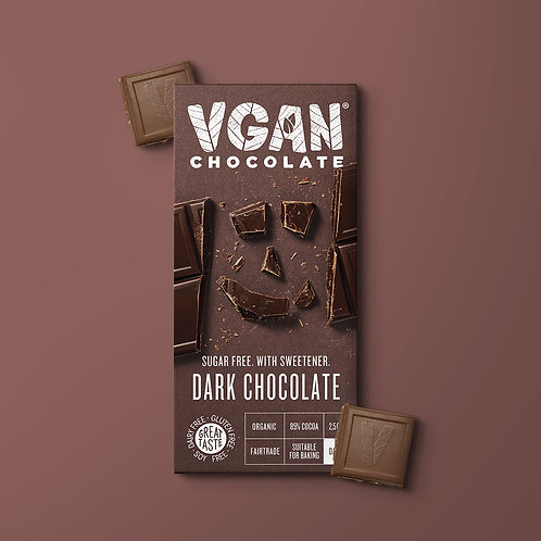 Dark Chocolate with 85% Cocoa | Sugar Free