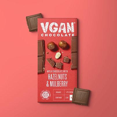 Dark Chocolate with Hazelnuts & Mulberry