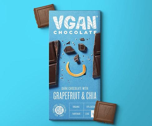 Dark Chocolate with Grapefruit & Chia
