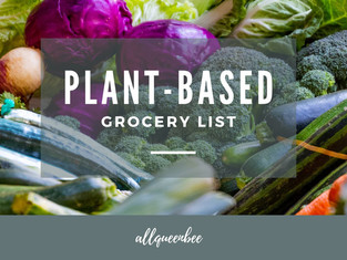 PLANT BASED GROCERY LIST