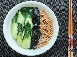 MISO BUCKWHEAT NOODLES WITH GREENS